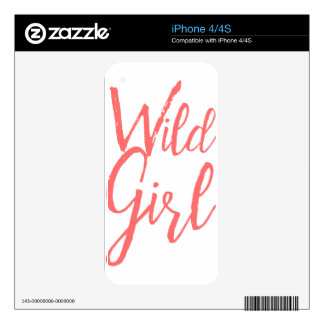 Wild Girl (Feminist Expressions) iPhone 4 Skin