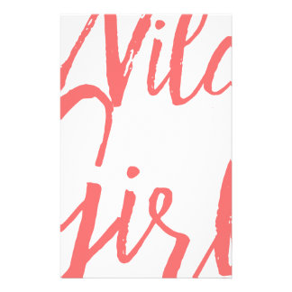 Wild Girl (Feminist Expressions) Stationery