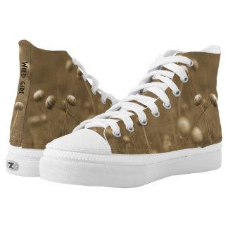 Wild girl vintage style High-Top sneakers