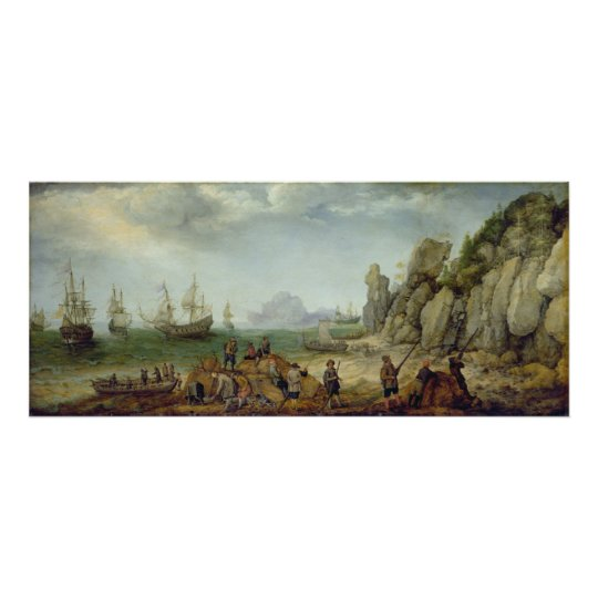 Wild goat hunting on the coast, 1620 poster