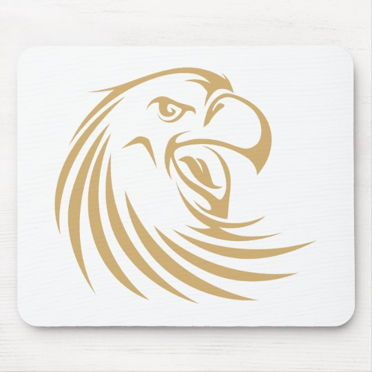 Wild Gold Eagle Mouse Pad