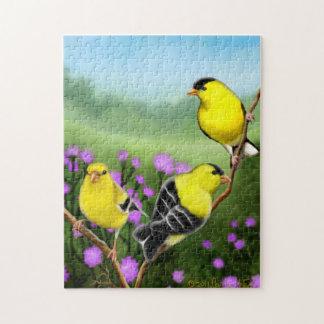 Wild Goldfinch Birds Puzzle