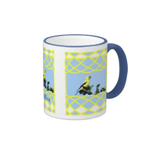 Wild Goldfinch Ringer Coffee Mug
