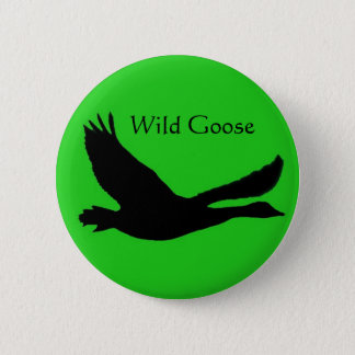 Wild Goose Button [Badge] with light background