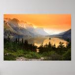 Wild goose island in Glacier national park Poster