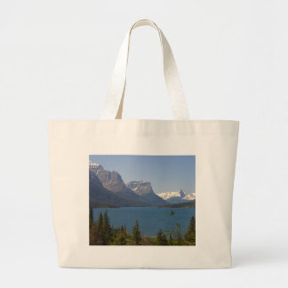 Wild Goose Island On St Mary Lake In Glacier Natio Tote Bags