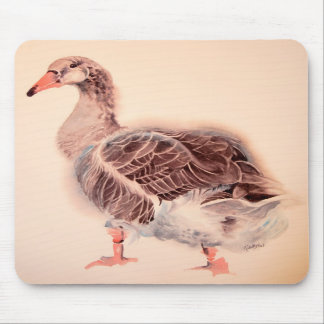 Wild Goose Watercolor Fine Art Goose Mousepad