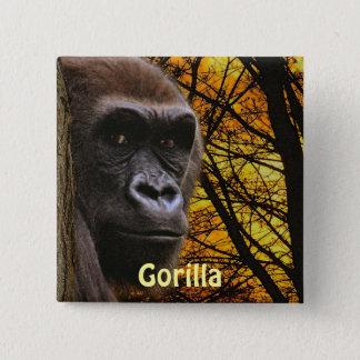 Wild Gorilla Great Apes Primate Art Badge Pinback Button