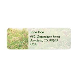Wild gramineous return address label