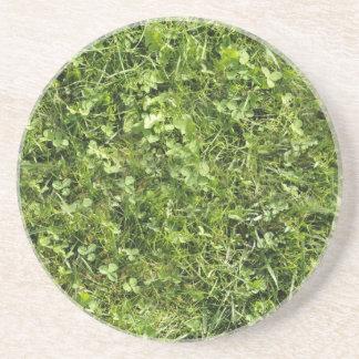 Wild grass and clover texture coaster