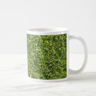Wild grass and clover texture coffee mug
