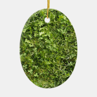 Wild grass and clover texture christmas tree ornaments