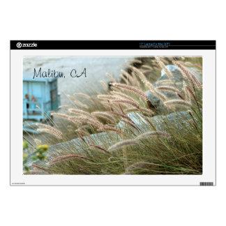 Wild grasses on Malibu beach California Decals For Laptops