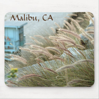 Wild grasses on Malibu beach California Mouse Pad