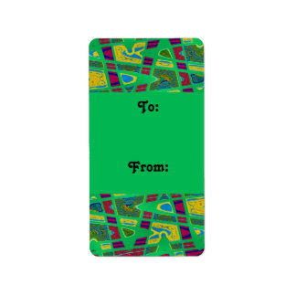 wild green gift tags address label