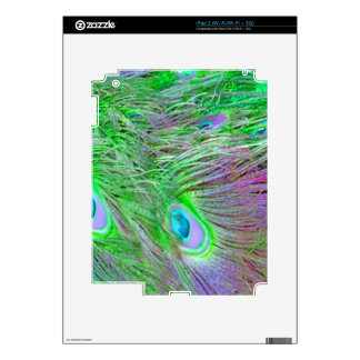 Wild Green Peacock Feathers Skin For iPad 2