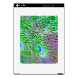 Wild Green Peacock Feathers Skins For The iPad