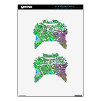 Wild Green Peacock Feathers Xbox 360 Controller Decal