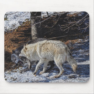 Wild Grey Wolf Animal-lover Design Mouse Pad