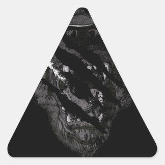 Wild Grizzly Bear Animal Triangle Sticker