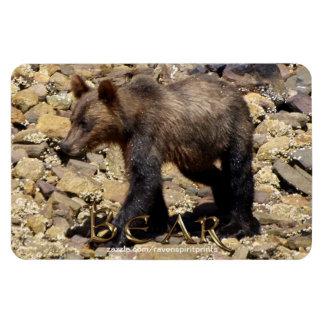 Wild Grizzly Bear Cub Wildlife Photo Flexi Magnet