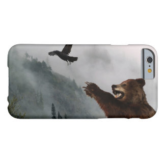 Wild Grizzly Bear & Raven for Animal-lovers Barely There iPhone 6 Case