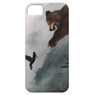 Wild Grizzly Bear & Raven for Animal-lovers iPhone SE/5/5s Case