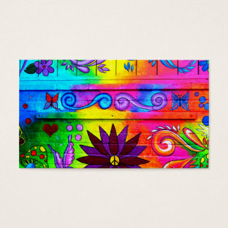 wild groovy 70's colors business card