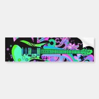 Wild Guitar (black) Car Bumper Sticker