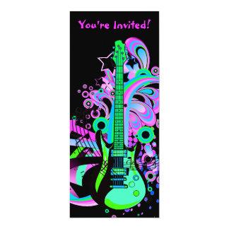 Wild Guitar (black) Card