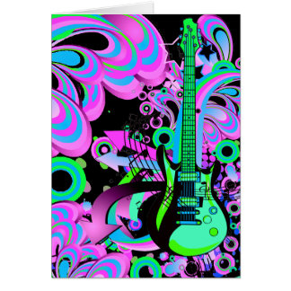 Wild Guitar (black) Card
