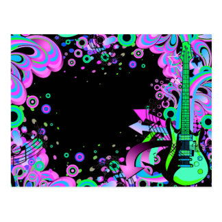 Wild Guitar (black) Postcard