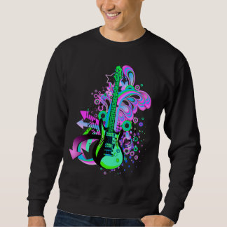 Wild Guitar (black) Pullover Sweatshirt