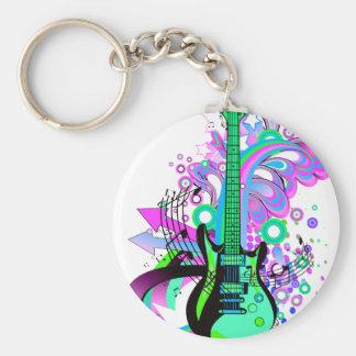 Wild Guitar Keychain