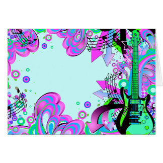 Wild Guitar (light blue) Card