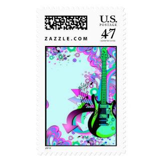Wild Guitar (light blue) Stamp