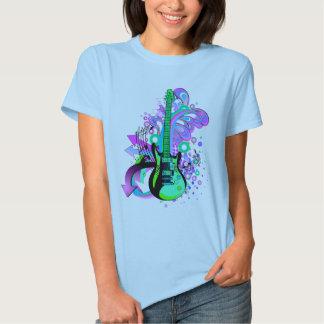 Wild Guitar (light blue) T-shirts