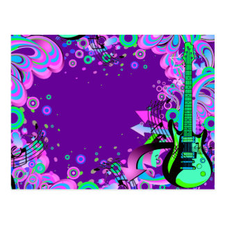 Wild Guitar (purple) Postcard