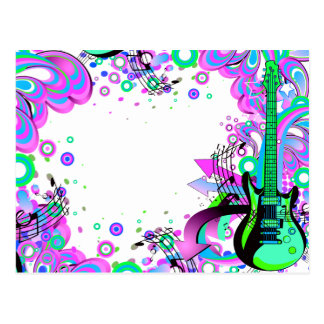 Wild Guitar (white) Postcard
