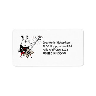 Wild Guitar Wolf Address Labels