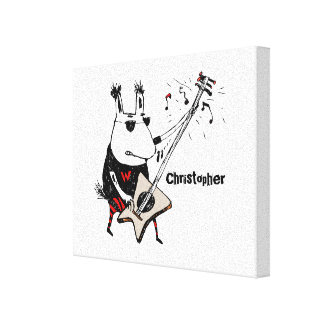 Wild Guitar Wolf Canvas Print