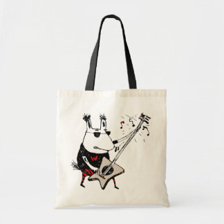 Wild Guitar Wolf Tote Bag