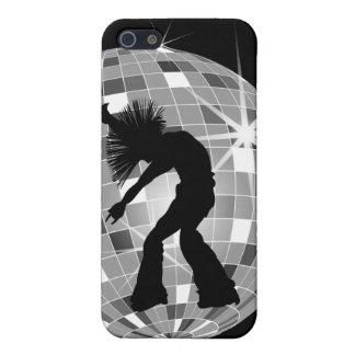 Wild Hair Singer & Dancer Silhouette On Disco Ball Cover For iPhone SE/5/5s