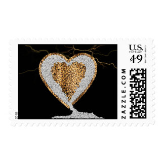 Wild Heart Postage Stamps