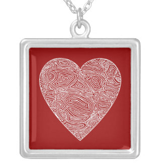 Wild Heart - Red Square Pendant Necklace