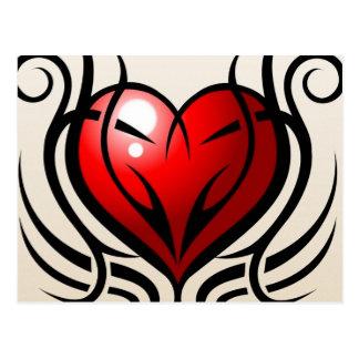 Wild Heart Tattoo style Postcard