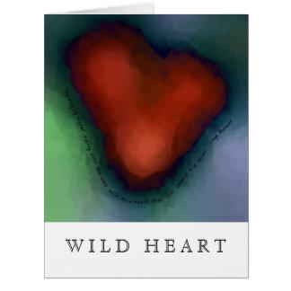 WILD HEART with lyrics - Blank Inside Cards