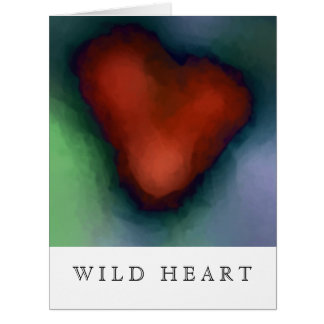 WILD HEART without lyrics - Blank Inside Greeting Cards