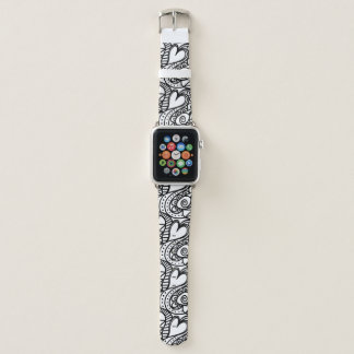 Wild Hearts Apple Watch Leather Band