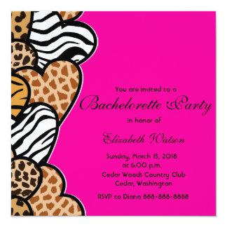 Wild hearts Bachelorette Party invitation
